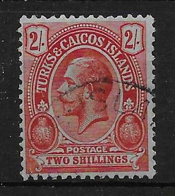 Turks & Caicos Islands Sg138 1913 2/= Red On Blue-Green Used