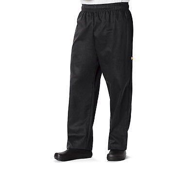 Black Dickies Unisex Traditional Baggy Chef Pants DC11 BLK