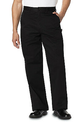 Black Dickies Men 's Classic Dress Chef Pants DC16 BLK
