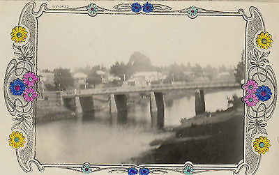 Real photo postcard of bridge over river we think Tasmania made by C.E & Co AG