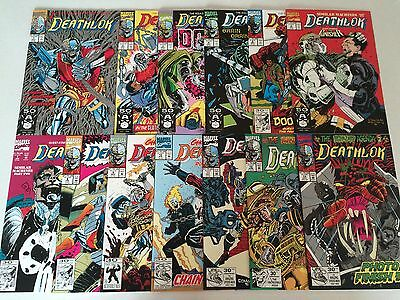 Deathlok #1-34 Annual #1-2 near set missing two issues nice 1991-1994 Marvel