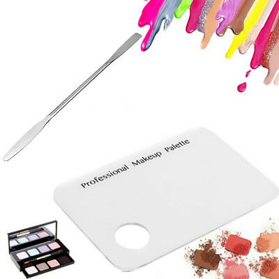 Eye Shadow +Stainless Spatula Mixing Palette Nail Acrylic Makeup Tool Cosmetic