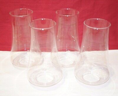"""NEW / Old Stock CRYSTAL vintage chandelier Chimney(s) shades 2"""" fitter TEXAS USA"""