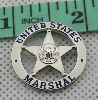 United States US Marshal Tie Pin Badge Silver