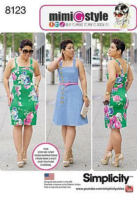 Simplicity Sewing Pattern Misses' Women's Dress Skirt Vars 10-18 & 20W-28W 8123