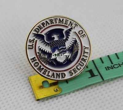 US Department of Homeland Security  DHS  Lapel Hat Pin badge
