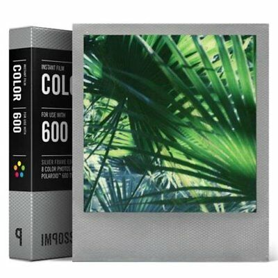 Impossible Project 600 Color Film (Silver Frame) for  I-1 Camera & Instant Lab