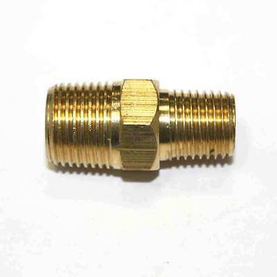 "(6) 1/4"" x 3/8"" NPT Male to Male Brass Hex Nipple Reducer quick fittings (FA416)"