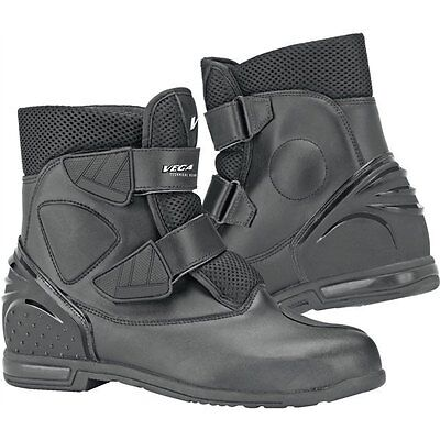 Vega Night Train Motorcycle Riding Boots Black Men's