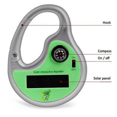 Fashion Mosquito Killer Tool Compass Drive Midge Solar Power  Insect Repeller