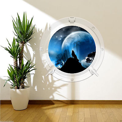 Turtle Fish Aquarium Sea Porthole Full Colour Wall Sticker Decal Transfer WSDP1