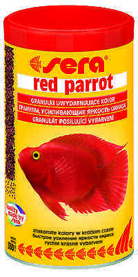 SERA RED PARROT Special granulate for parrot cichlids 1000ml/330g