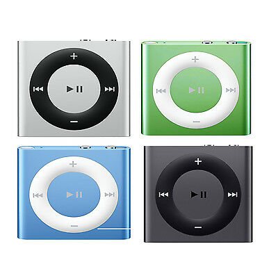 Apple iPod Shuffle 2GB 4th Generation Rechargeable iTunes Music MP3 Player