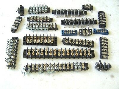 Electrical strip connectors or barrier strips miscellaneous used lot of 19