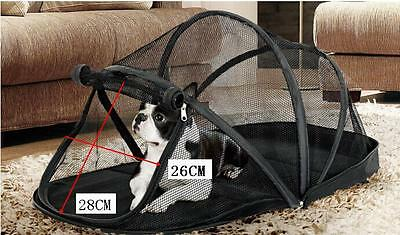 Pet Dog Puppy Dome Foldable Portable Outdoor Tents Cage Column Black Waterproof