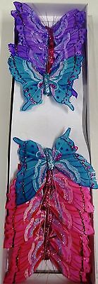 12 x Feather Butterflies on Wire -  3 different colours (Code 08 )