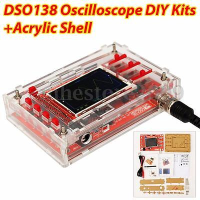 "DSO138 2.4"" TFT Digital Oscilloscope DIY Kits parts  1Msps W/ probe + Case Cover"