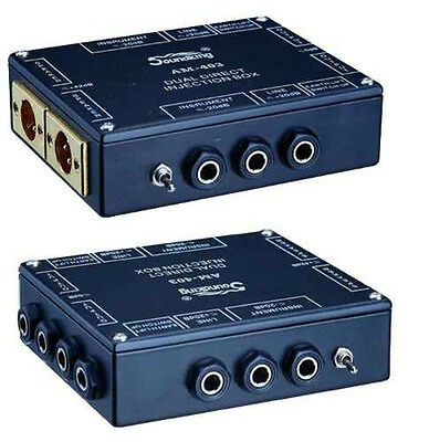 Soundking AM403 2 channel / dual passive stereo DI Direct Box  SAME DAY SHIPPING