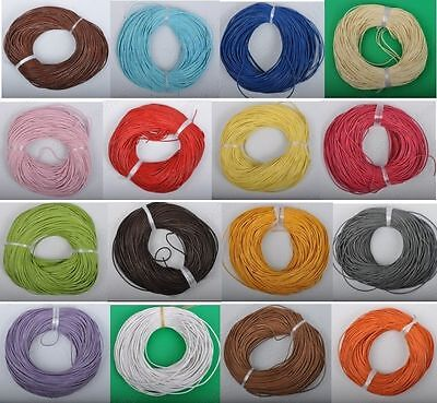 3M/5M/10M Real Leather Necklace Rope String Cord Findings 1/1.5/2/2.5/3mm New