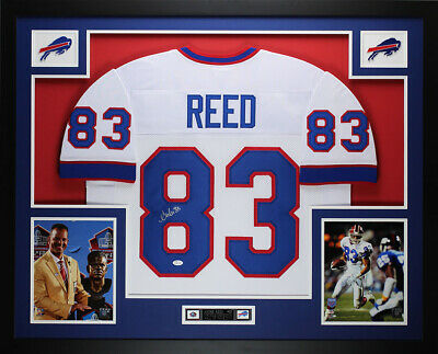 Andre Reed Autographed and Framed White Bills Jersey Auto JSA COA (D3-L) 87260f26a