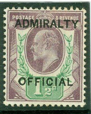 SG 0103 1½d Dull purple & Green Admirality official. lightly mounted mint
