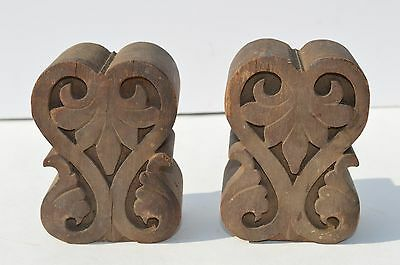 Antique Pair Of Carved Wood Architectural Element Decorative Items Furniture