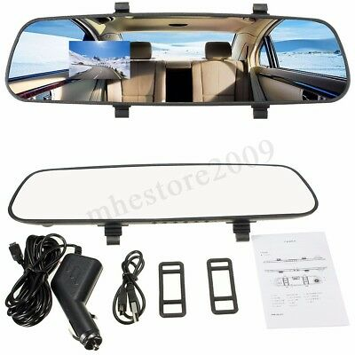 Car HD 2.7'' 1080P Rearview Mirror Dash Camera DVR Cam Video Recorder Rear View