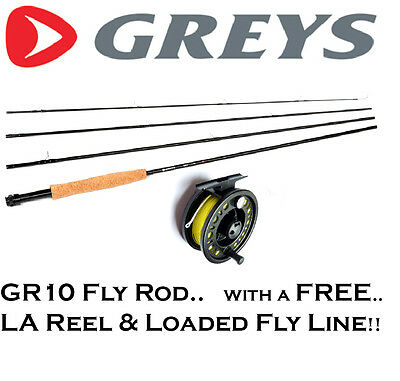 GREYS GR10 Fly Fishing Rod with FREE Loaded Fly Reel & Floating Line (RRP £107+)