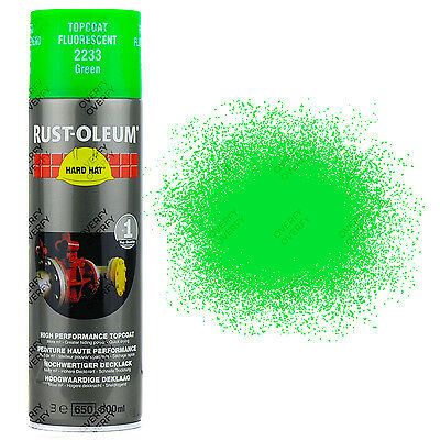 x6 Very High Coverage Rust-Oleum Fluorescent Green Spray Paint Hard Hat 2233