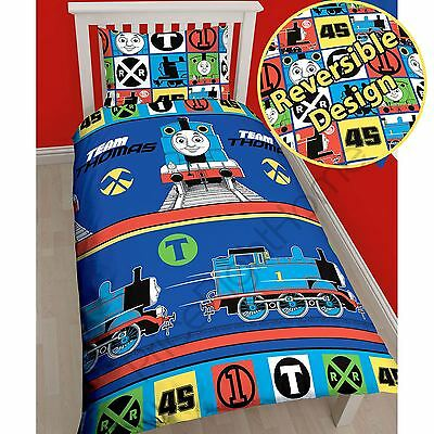 Official Thomas The Tank Engine Single Duvet Cover Set Rotary Design Free P+P