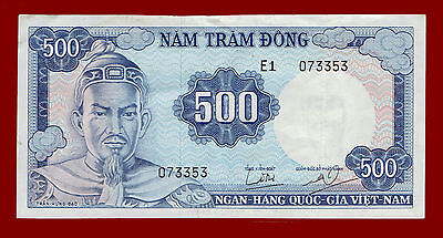 Nd(1966) South Vietnam 500 Dong Note 3353