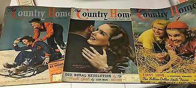 Vintage The Country Home Magazines Lot Of 3  1939