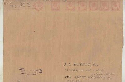 1961 Hindustan India ORIGINAL EMPTY Factory Mailing Envelope ww0428
