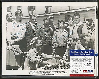 Lon McCallister Signed 8x10 Photo PSA/DNA COA AUTO Autograph