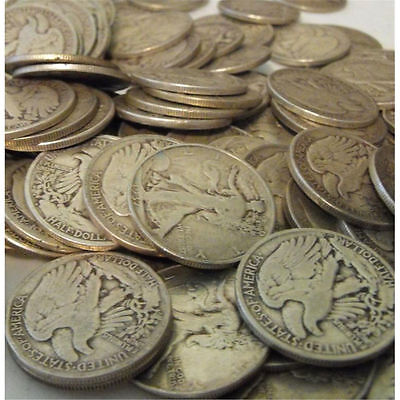 Old Timers! One Quarter Troy Pound 90% Silver U.S. Coins Mixed Half Dollars