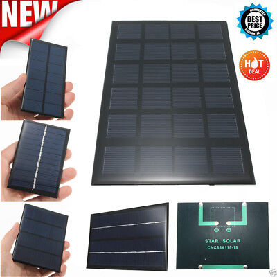 1/1.5/3.5/4/5/5.5/6/9/12v Solar Panel Module For Battery Cell Phone Charger DIY