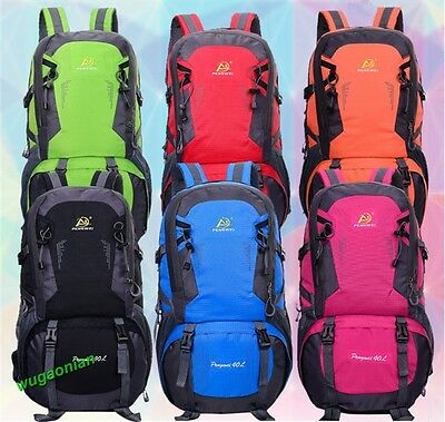 40L Waterproof Camping Hiking Backpack Outdoor Travel Luggage Rucksack Bag UK