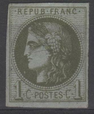 """FRANCE STAMP TIMBRE N° 39 C """" CERES BORDEAUX 1c OLIVE REPORT 3 """" NEUF xx TB M669"""