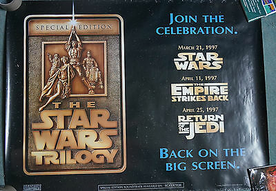 The Star Wars Trilogy (1997) Original UK Quad Movie Poster 30.5 x 40 inches