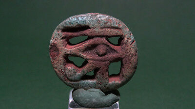 Ancient Wedjat Eye - Faience Egyptian Late Period 716-30 Bc