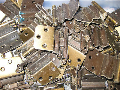 14 Vintage Early American Dungeon Bronze / Brass CUPBORD DOOR HINGE