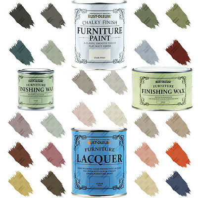 Rust-Oleum Chalk Chalky Furniture Paint Wax Lacquer 125ml-750ml FREE RETURNS