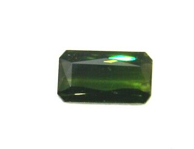 Echter facettierter achteckiger Turmalin ( 5,56 Carat )14,5 x 8 mm in Box