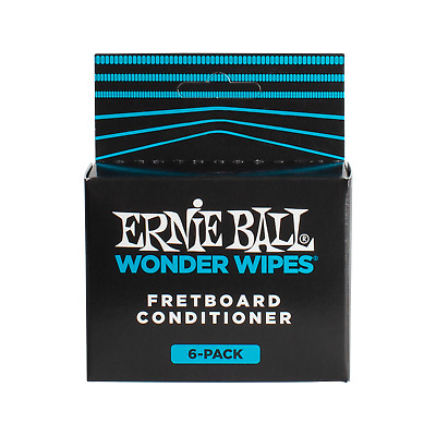 Ernie Ball Wonder Wipes - Fretboard conditioner 6-pack Guitar Care & Maintenance