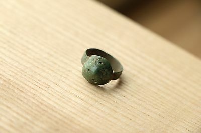 Rare Decorated Celtic Bronze Ring 3-2 BC
