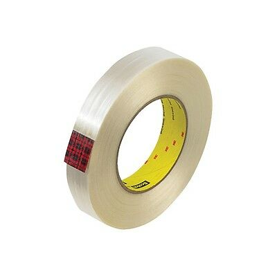 """3M 890MSR Strapping Tape, 1/2"""" x 60 yds., White, 72/Case"""