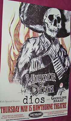 Murder By Death Concert Poster . Red of Tooth and Claw