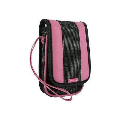 Pink & black carry case travel pouch bag for Nintendo DS Lite, DSi and old 3DS