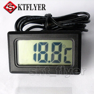 Electronic Digital Thermometer LCD Temp Car Meter + Probe Sensor LCD -50 to 110℃