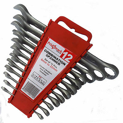 Spanner Set Combination Metric Wrenches Free Rack 12 Point Chrome Vanadium 33a